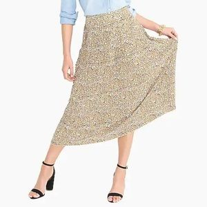 J.Crew Pleated Leopard Midi Skirt - NWT